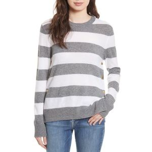 Equipment striped cashmere sweater